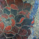 Amanda Kaay - original painting - acrylic and gold leaf - Red Peony