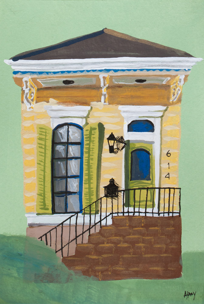 Amanda Kaay • Original Art • NOLA shotgun house