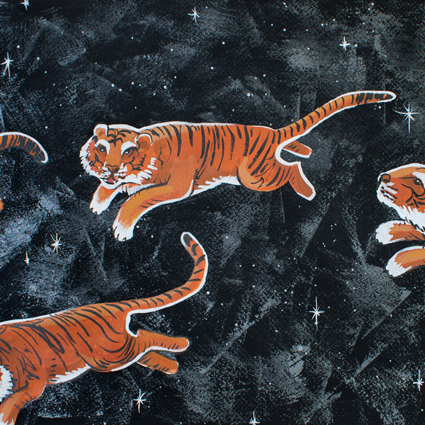 Amanda Kaay • Original Art • Tigers Across the Sky