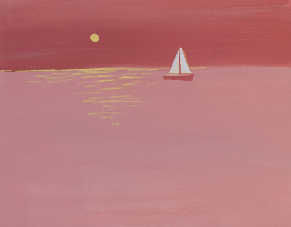 Amanda Kaay • Original Art • Sunset Sail